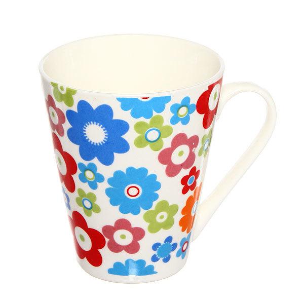 Кружка керамическая 300мл ″Цветы″ купить оптом и в розницу