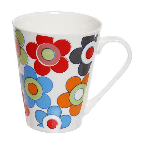 Кружка керамическая 300мл ″Цветы″ TI150 купить оптом и в розницу