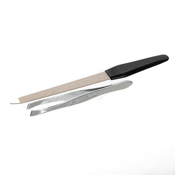 Маникюрный набор на блистере, 2 предмета ″Ультрамарин - Ваши ручки″ (пилка металлическая и пинцет) купить оптом и в розницу