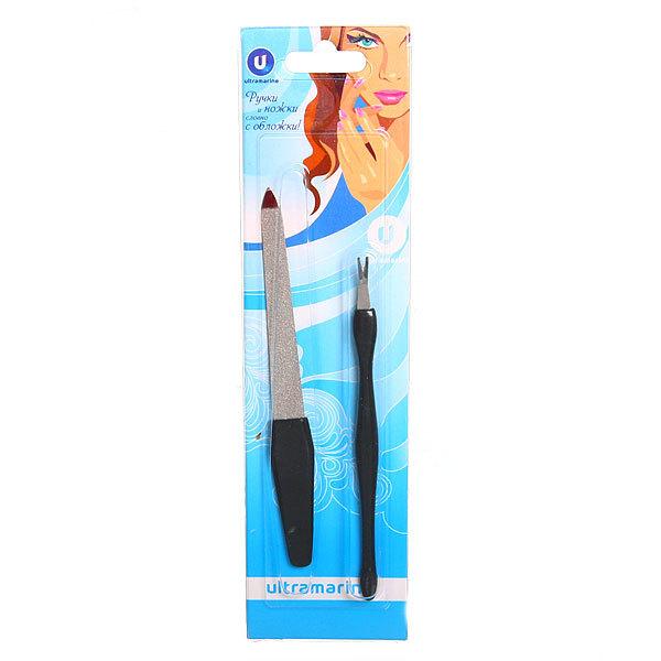 Набор для маникюра на блистере Ультрамарин 2 предмета ″Ручки и ножки″ 802-3 купить оптом и в розницу
