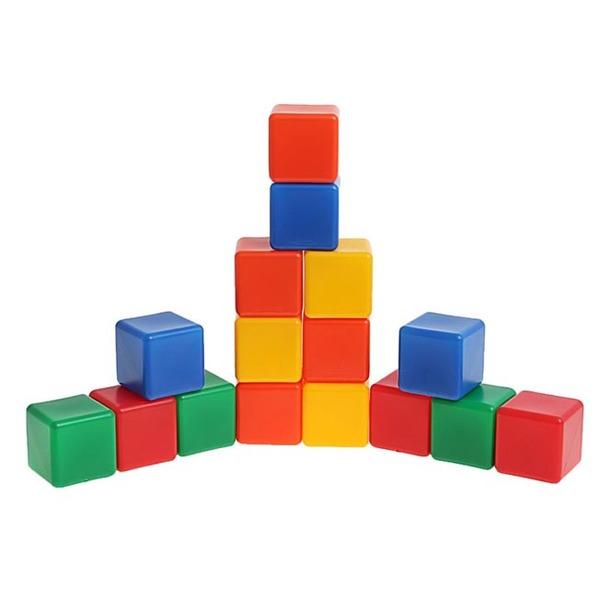 Набор кубиков 16 шт цветные 1200605 купить оптом и в розницу