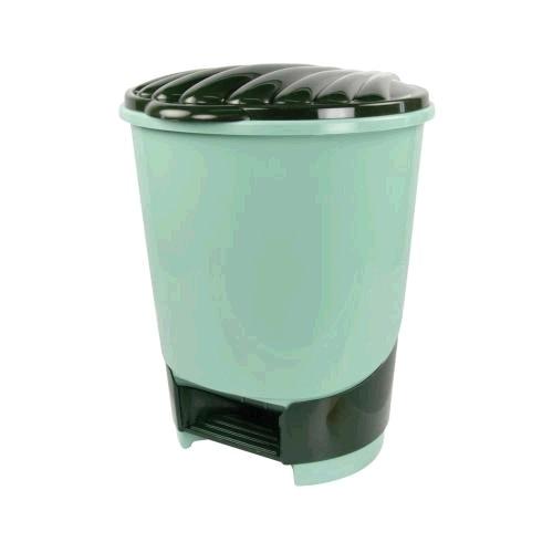 Ведро д/мусора пл 10 л педаль зеленый (Октябрьский) купить оптом и в розницу