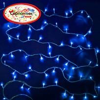 Гирлянда светодиодная 5,2м, 50 ламп LED, Синий, 8 реж, прозр.пров. купить оптом и в розницу