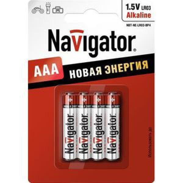 Элемент питания Navigator NBT-NE-LR03-BP4 блистер 4шт, 1.5В, AAA Alkaline (10/50) купить оптом и в розницу