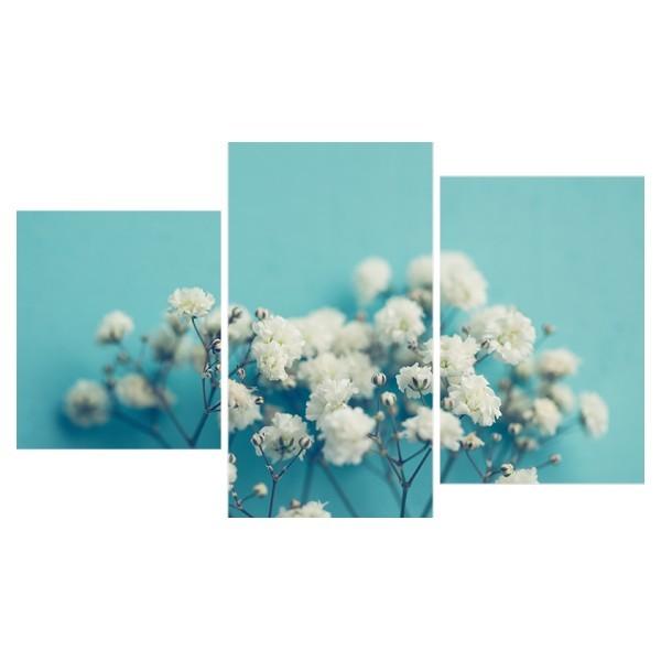 Картина модульная триптих 55*96 Цветы диз.1 43-01 купить оптом и в розницу