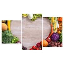Картина модульная триптих 55*96 см, овощи, сердце купить оптом и в розницу