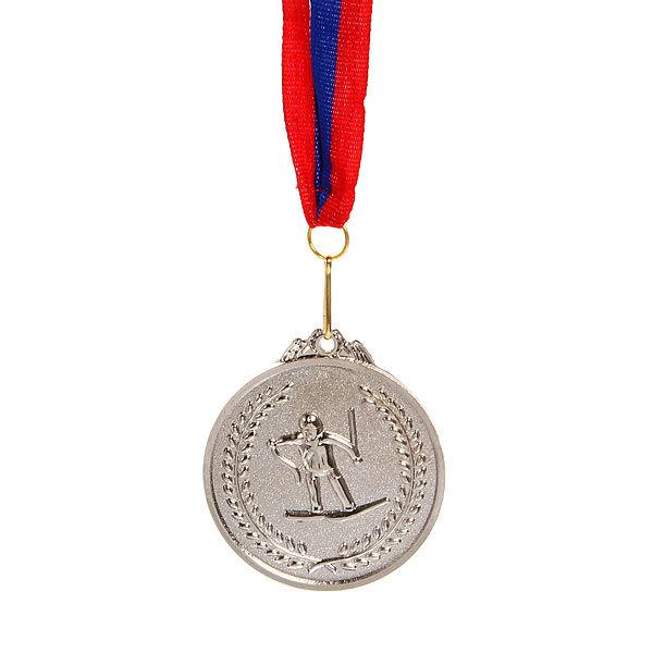 Медаль ″Лыжи″- 2 место (6,5см) купить оптом и в розницу