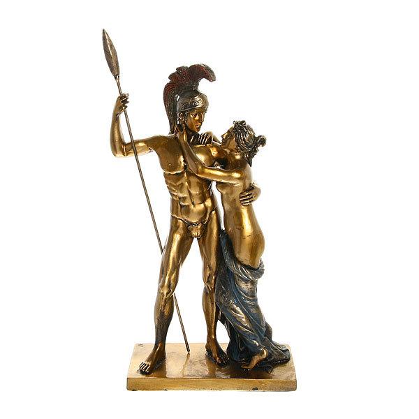 Статуэтка из полистоуна античная Прощание Леонида 9675 (бронза) купить оптом и в розницу