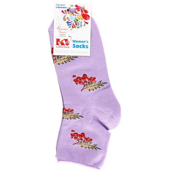 Носки женские Красная ветка, рябина, цвет в ассортименте р. 23-25 купить оптом и в розницу
