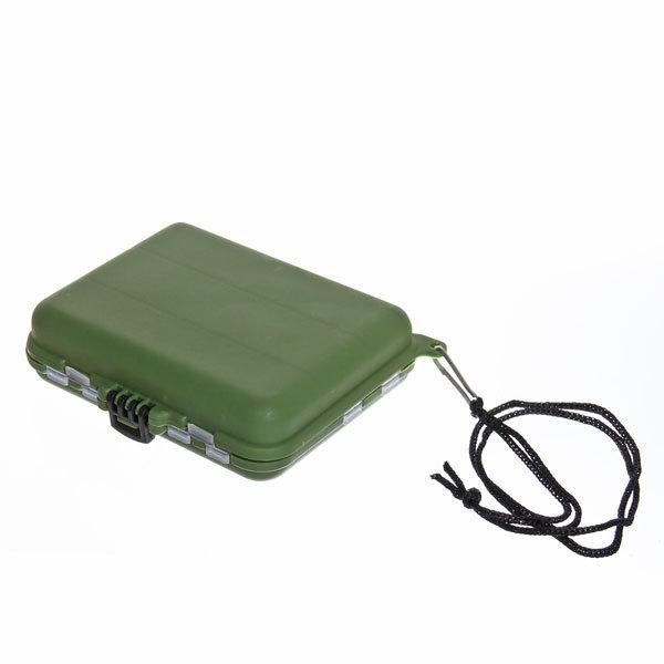 Коробочка для блесен двухсторонняя, 21 ячейка с крышками, цвет зеленый, HE12-103 купить оптом и в розницу
