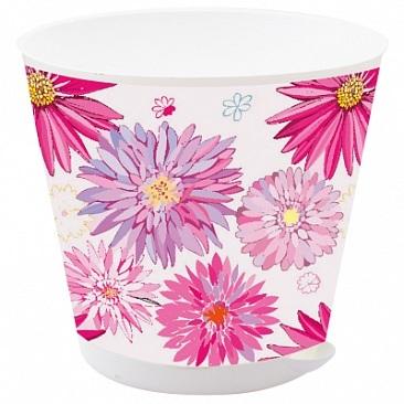 Горшок для цветов Крит D 120 mm с системой прикорневого полива 0,7л Астры *16 купить оптом и в розницу