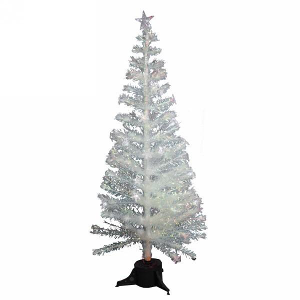Елка светодиодная 180см белая оптоволокно + снежинки 32LED со звездой 5LED купить оптом и в розницу