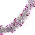 Мишура новогодняя 1,5 метра 5см ″Розовые огоньки″ розовый купить оптом и в розницу