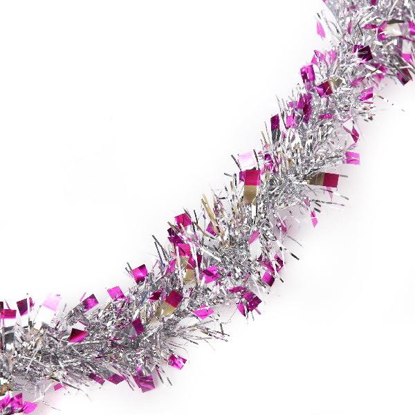 Мишура 1,5м 5см ″Розовые огоньки″ розовый купить оптом и в розницу