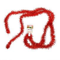 Мишура новогодняя 2 метра 3,5см ″Классика″ красный купить оптом и в розницу