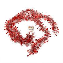 Мишура новогодняя 2 метра 7см ″Звездочки″ красный купить оптом и в розницу