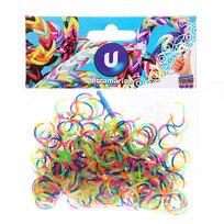 Резинки для плетения 300шт спиральки микс цветов с крючком и S-клипсами купить оптом и в розницу