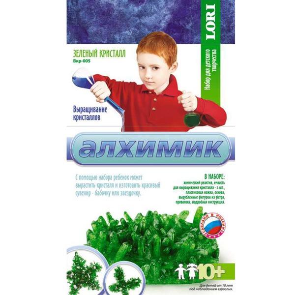"""Набор ДТ Выращивание кристаллов """"Зеленый кристалл"""" Вкр-005 Lori купить оптом и в розницу"""