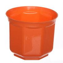 Кашпо для цветов ″Блеск″ h-11см d-13см оранжевый Н1-13 1,5 купить оптом и в розницу
