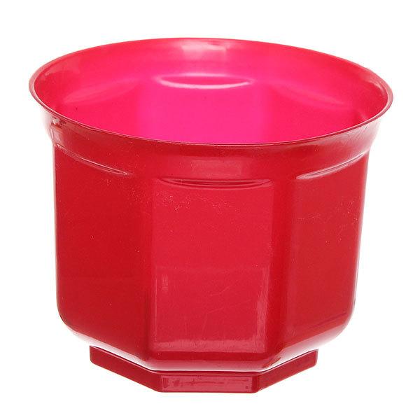 Кашпо для цветов ″Блеск″ h-12см d-15см красный Н1-15 2,1 купить оптом и в розницу