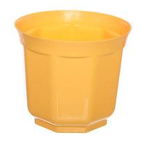 Кашпо для цветов ″Блеск″ h-18см d-20см желтый Н1-20 5,7 купить оптом и в розницу