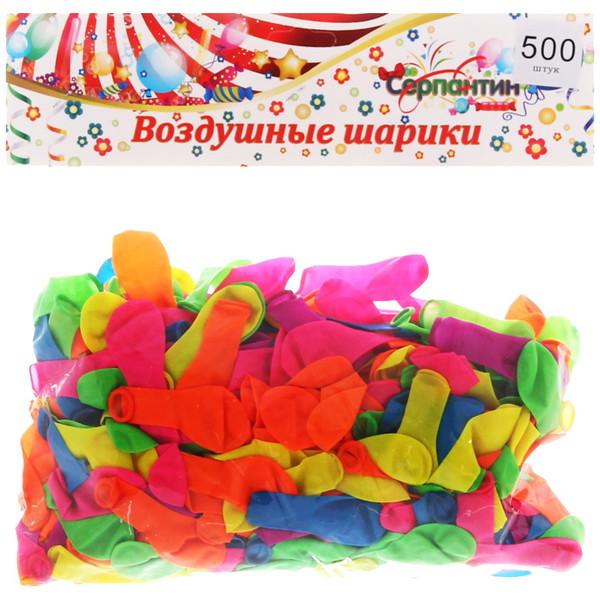 Воздушные шары ″Бомбочка″, набор 500 шт, вместимость 115 гр купить оптом и в розницу