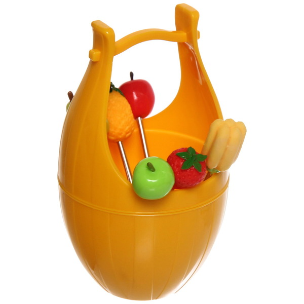 Шпажки в наборе 6 шт ″Корзинка с фруктами″ купить оптом и в розницу