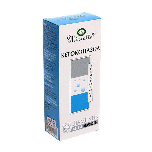 Шампунь от перхоти «Mirrolla» с кетоконазолом 2% 150 мл купить оптом и в розницу