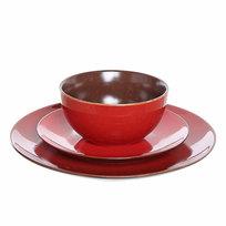Набор столовой посуды 3 предмета ″Кантри″ (2 тарелки 27;19 см + салатник 13 см) 34429-12 купить оптом и в розницу