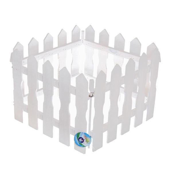 Забор садовый белый 4 секции 120х25см купить оптом и в розницу