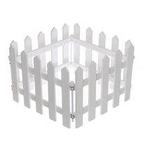 Забор садовый белый 4 секции 100х20см купить оптом и в розницу
