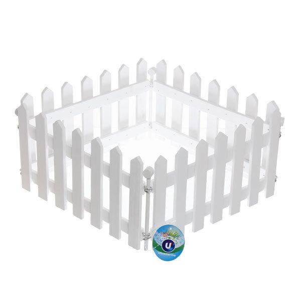 Забор садовый белый 4 секции 100х15см купить оптом и в розницу
