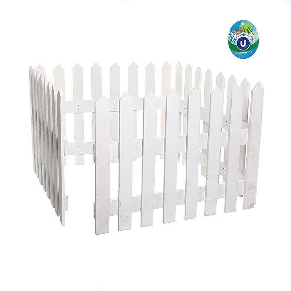 Забор садовый белый 4 секции 160х30см купить оптом и в розницу