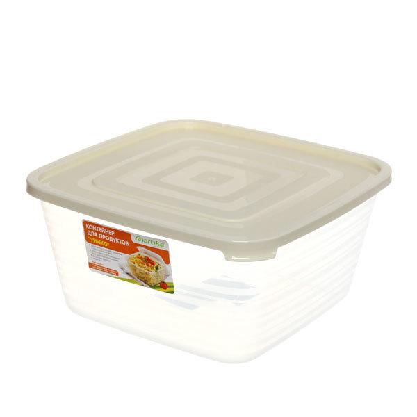 Контейнер пластиковый пищевой ″Унико″ 3л, квадратный купить оптом и в розницу