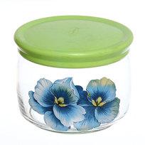 Банка для продуктов стеклянная 500мл ″Голубая орхидея″ D43002/01 купить оптом и в розницу