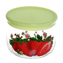 Банка для продуктов стеклянная 500мл ″Клубничный аромат″ D43002/01 купить оптом и в розницу