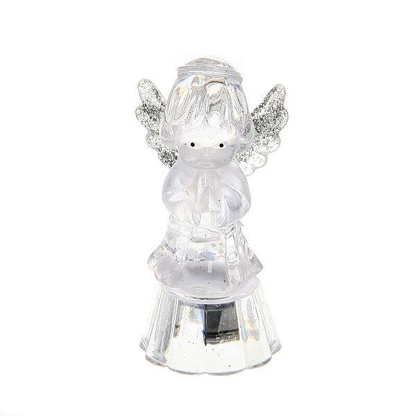 Фигурка с подсветкой ″Ангелочек″серебряные крылышки 8,5 см купить оптом и в розницу