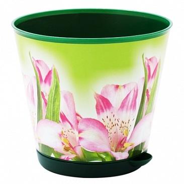 Горшок для цветов Крит D 200 mm с системой прикорневого полива 3,6л Лилия*12 купить оптом и в розницу