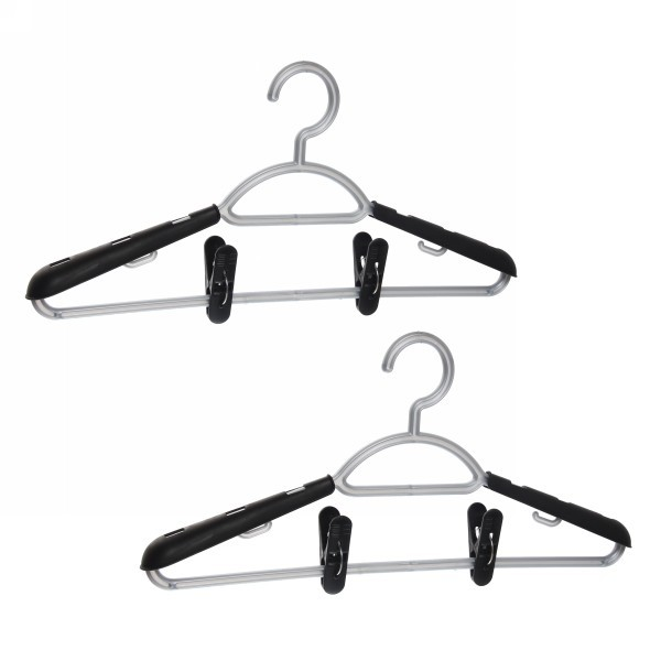 Вешалки-плечики с накладками универсальные размер 48-54 набор 2шт купить оптом и в розницу