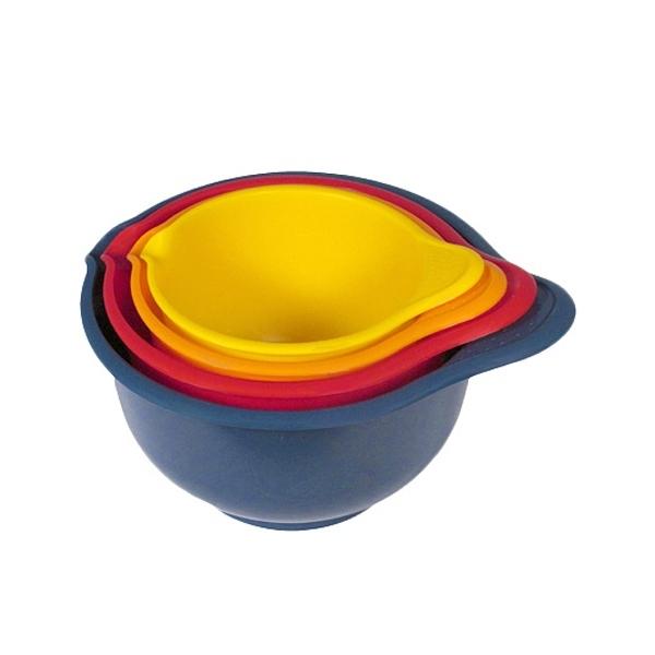 Миска пластиковая для миксера ″Мадена″ в наборе 4 шт. (1,4л; 1,9л; 2,6л; 3,6л) купить оптом и в розницу