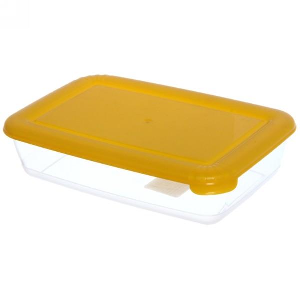 Контейнер пластиковый пищевой ″Лайт″ 0,45л прямоугольный *52 купить оптом и в розницу