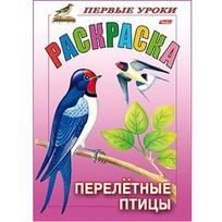 Раскраска книжка 8л  А5ф Первые уроки.Перелетные птицы 10354 купить оптом и в розницу