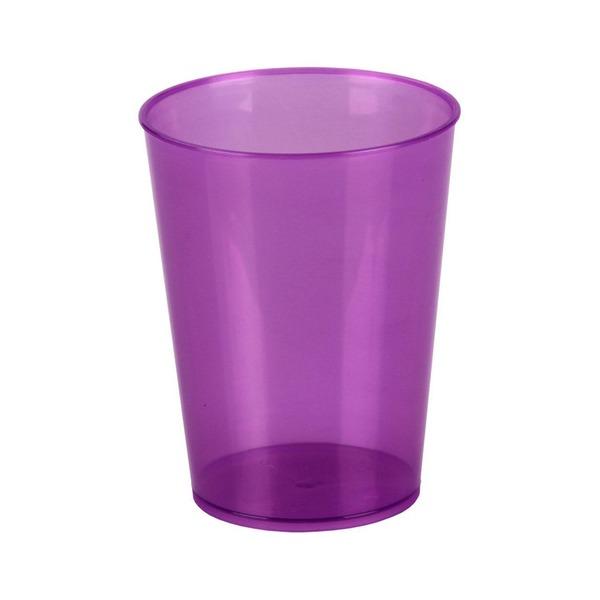 Стакан пл 350 мл фиолетовый (Октябрьский)*30 купить оптом и в розницу
