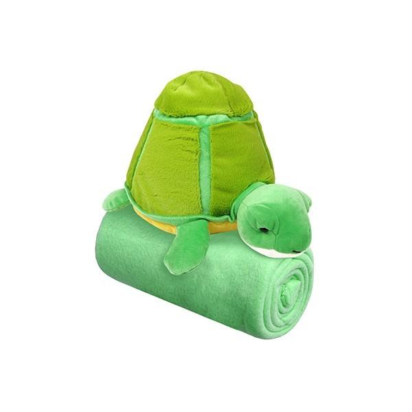 Набор ″Черепашка″: Плед флисовый 100*75см+игрушка мягконабивная 18см купить оптом и в розницу