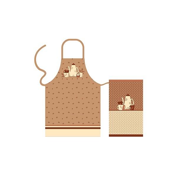 Набор кухонного текстиля 2 предмета ″Cappuchino″ (полотенце 37*62 см, фартук 85*60 см) /56/8 67458 купить оптом и в розницу