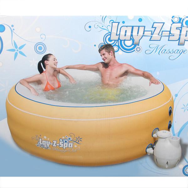 Бассейн надувной аэромассажный Lay-Z-Spa 206*71 см (желтый) + фильтр Bestway (54102) купить оптом и в розницу