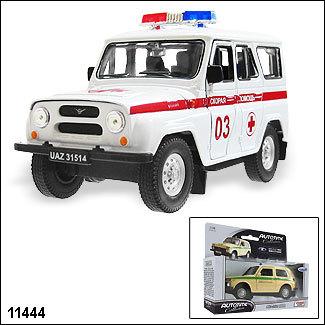 Модель УАЗ 31514  Скор. помощь 11444 1:34/39 купить оптом и в розницу