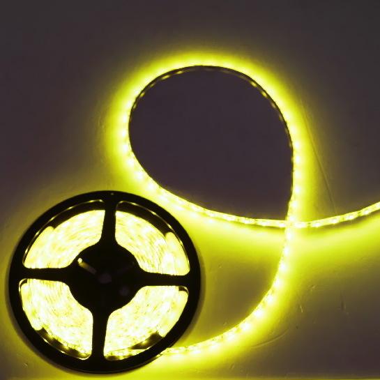 Лента светодиодная 5м*10мм, 60 ламп LED на 1м, желтая,самоклейка,12В, степень защиты IP54 купить оптом и в розницу