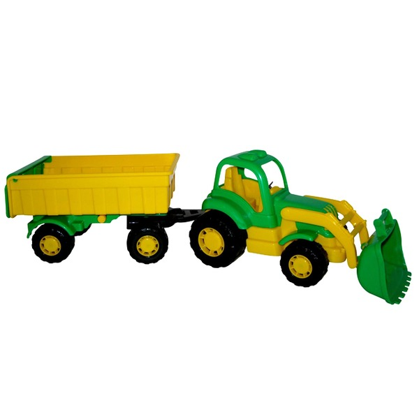 Трактор Крепыш с прицепом №1 44556 П-Е /6/ купить оптом и в розницу