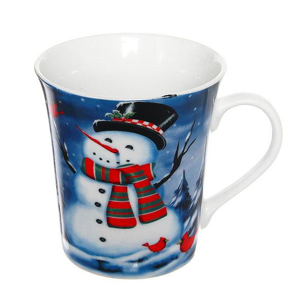 Кружка керамическая 300мл ″Снеговик со звездой″ купить оптом и в розницу